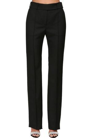 ALEXANDRE VAUTHIER Grain De Poudre Straight Leg Pants