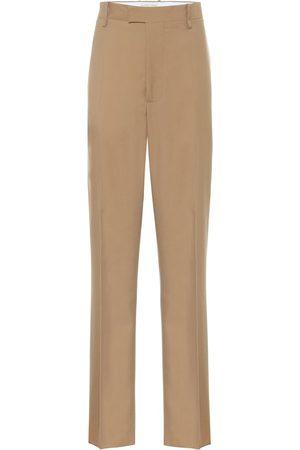 Bottega Veneta High-rise straight wool pants
