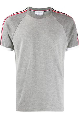 Thom Browne Piqué short raglan sleeve T-shirt - Grey