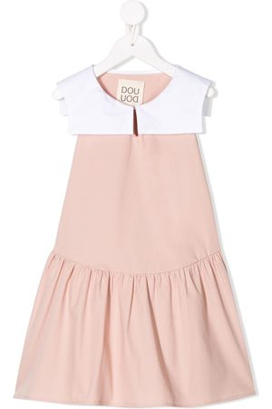 DOUUOD KIDS Colour block tiered dress