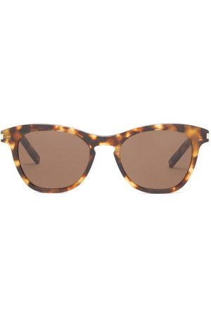 Saint Laurent Kate Round Tortoiseshell-acetate Sunglasses - Womens - Tortoiseshell