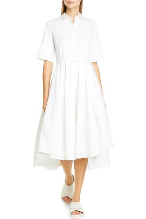 CO Women's Belted tton Fit & Flare Shirtdress