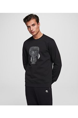 Karl Lagerfeld Men Sweatshirts - IKONIK METALLIC SWEATSHIRT