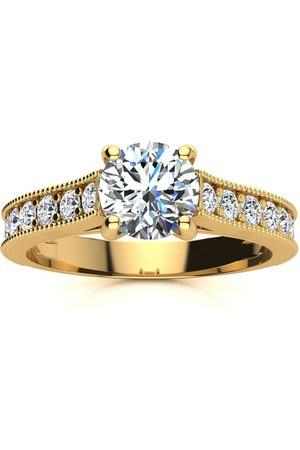 SuperJeweler Women Rings - 1.5 Carat Solitaire Engagement Ring w/ 1 Carat Center Diamond in 14K (3.7 g) (