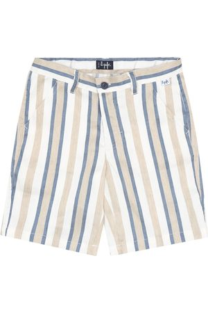 Il gufo Striped linen-blend bermuda shorts