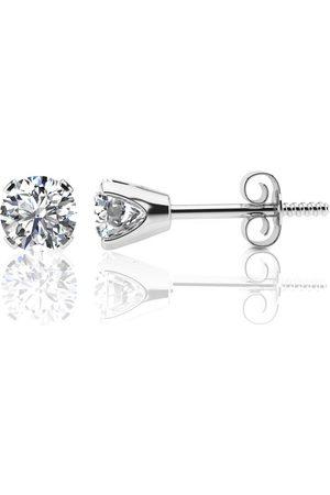 SuperJeweler 1.10 Carat Colorless Diamond Stud Earrings