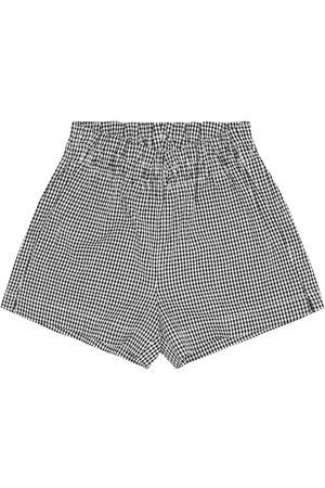 Il gufo Checked cotton seersucker shorts