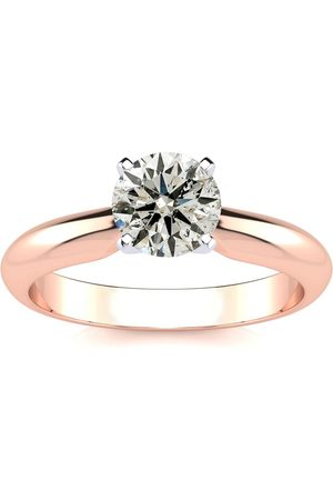 SuperJeweler Women Rings - 1 Carat Round Diamond Solitaire Ring in 14k (2.2 Grams)