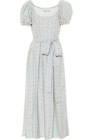 LOVESHACKFANCY Lais floral cotton-poplin midi dress