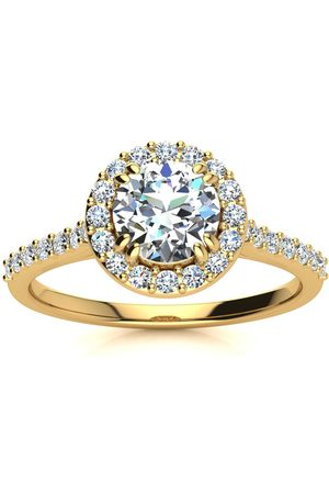 SuperJeweler 1 Carat Perfect Halo Diamond Engagement Ring in 14K (3.5 g) (