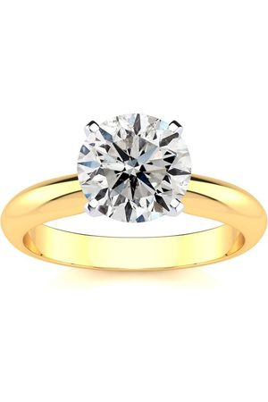 SuperJeweler Women Rings - 2 Carat Diamond Solitaire Engagement Ring in 14K (3 g) (