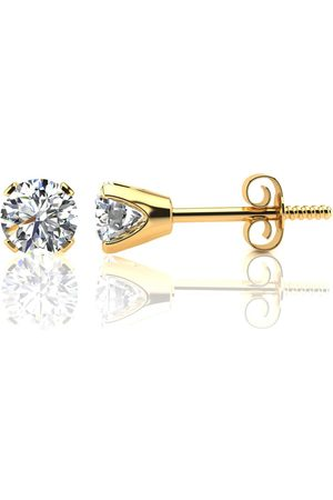 SuperJeweler 1.10 Carat Colorless Diamond Stud Earrings