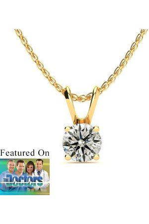 SuperJeweler Pretty 1/2 Carat 14k (1 Gram) Diamond Pendant Necklace
