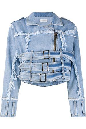 FAITH CONNEXION Women Denim Jackets - Distressed effect denim jacket