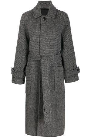 AMI Paris Women Coats - Belted long coat