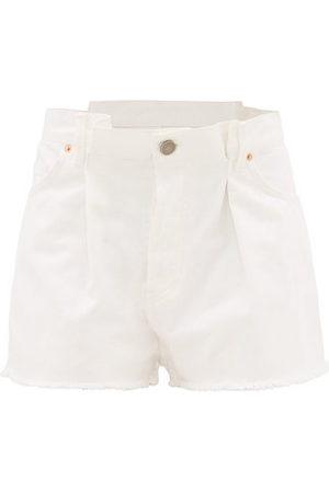 Raey Fold Raw-hem Denim Shorts - Womens
