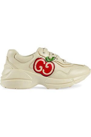 Gucci GG apple print Rhyton sneakers - Neutrals