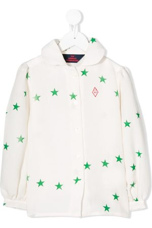 The Animals Observatory Girls Blouses - Star-print blouse - NEUTRALS