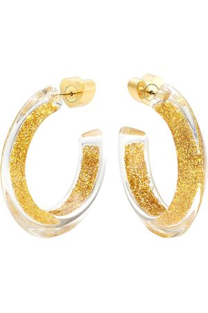 ALISON LOU Small Glitter Jelly Hoops