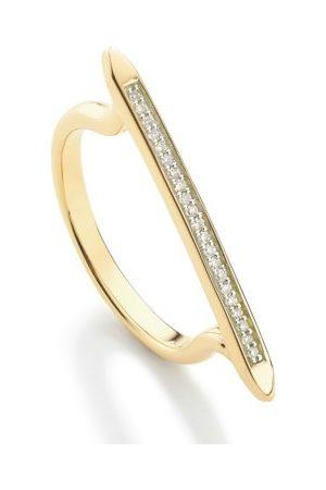 Monica Vinader Diamond Skinny Stacking Ring, Gold Vermeil on Silver