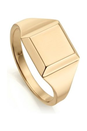 Monica Vinader Gold Signature Signet Ring