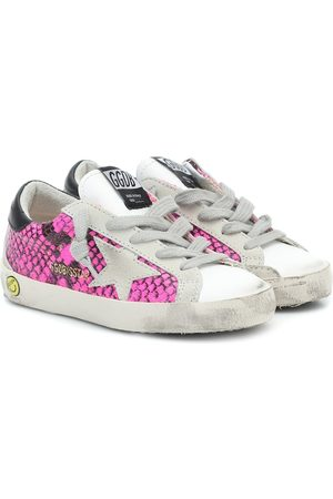 Golden Goose Superstar snake-print sneakers