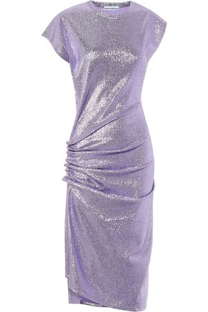 Paco rabanne Stretch metallic midi dress