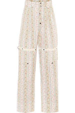 Etro Paisley high-rise cotton pants