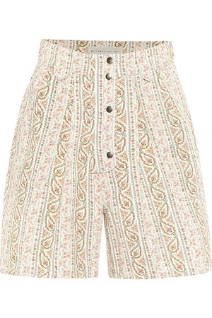 Etro Paisley high-rise cotton shorts
