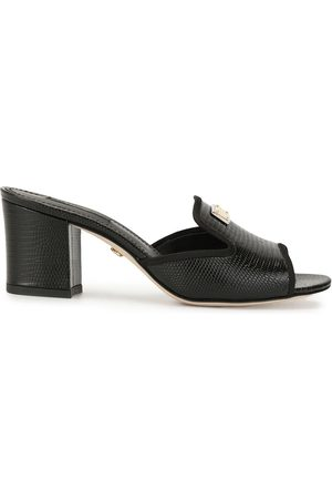 Dolce & Gabbana Lizard-effect block-heel sandals