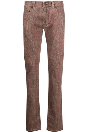 Etro Paisley printed bootcut jeans