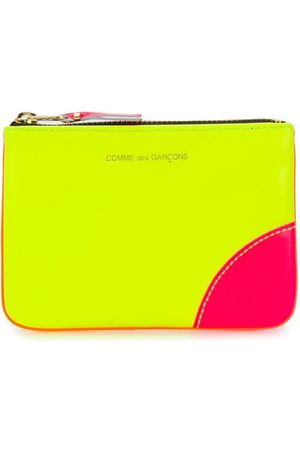 Comme des Garçons Zipped colour blocked purse