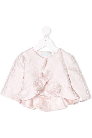 Abel & Lula Girls Blazers - Fantasy Jacquard ruffled jacket