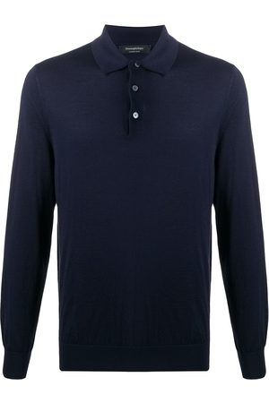 Ermenegildo Zegna Men Polo Shirts - Fine knit polo top
