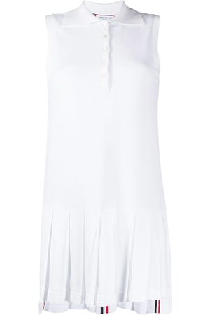 Thom Browne Pleated-shirt polo dress