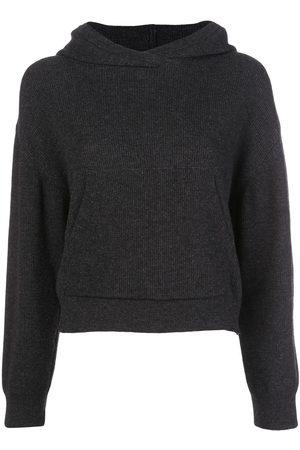 Nanushka Mog ribbed-knit hoodie - Grey