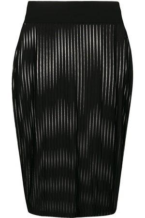 MAISON CLOSE Striped pencil skirt