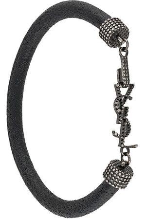 Saint Laurent Women Bracelets - Crystal-embellished logo bracelet
