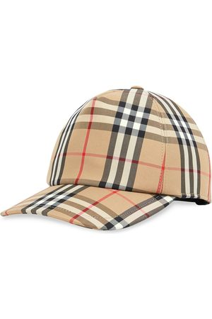 Burberry Check print baseball cap - Neutrals