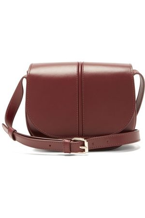 A.P.C Betty Smooth Leather Cross-body Bag - Womens - Burgundy