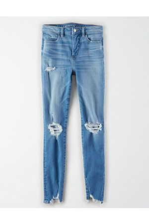 American Eagle Outfitters The Dream Jean Super High-Waisted Jegging Women's 2 Long