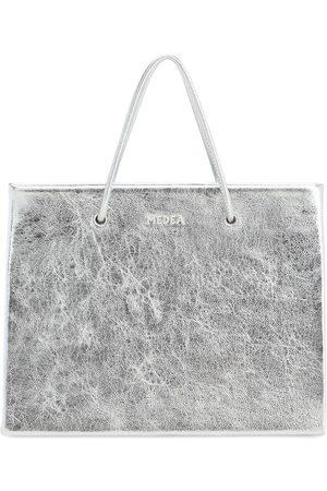 Medea Hanna Metallic Leather Top Handle Bag