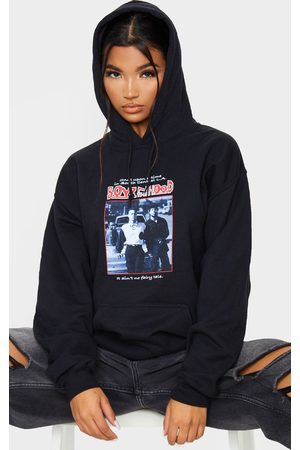 PRETTYLITTLETHING Slogan Boyz In The Hood Print Hoodie