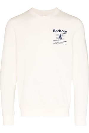 Barbour Reed logo print sweatshirt - Neutrals