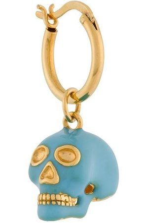 TRUE ROCKS Small skull hoop earring