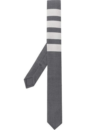 Thom Browne 4-bar plain weave tie - Grey