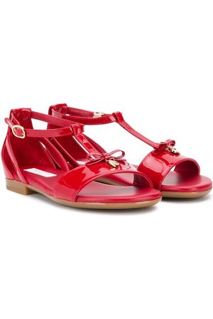 Dolce & Gabbana Kids Bow front T-bar sandals