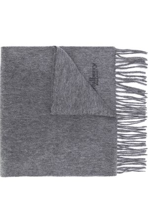 MULBERRY Scarves - Fringed cashmere scarf - Grey