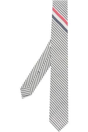 Thom Browne Men Bow Ties - RWB stripe wool tie
