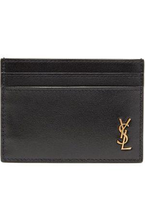 Saint Laurent Ysl Monogram Leather Cardholder - Mens